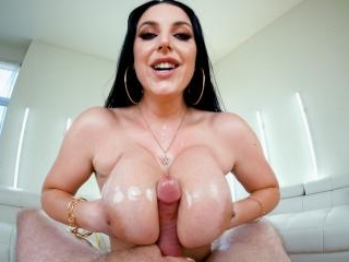 Angela White: POV BJ + Sloppy Tit Fuck