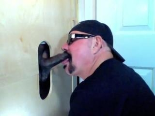 A Chocolate Visits The Gloryhole and Cums