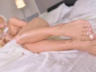 Cinderella's Glass Shoe - A Blonde's Sultry Foot F