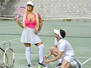 Rogue Tennis Ball Produces An Anal Racket