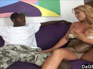Horny milf goes wild for big black dick