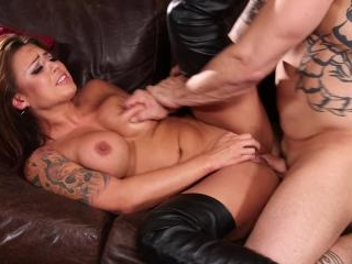 Eva Angelina drilled hard in BDSM