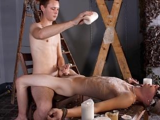Splashed With Wax And Cum - Luca Finn And Aiden Ja