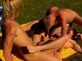 Three Boys Bareback In The Sun - Dante, Leo & Luca