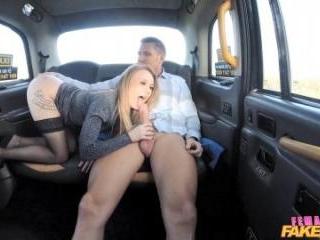 Horny Taxi Driver Rides Big Cock