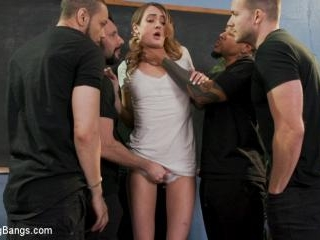 Dirty Pig Whore: Teacher Zoe Sparx Oinks for Cock,