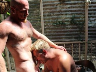DICK SAVVY POUNDS RYAN\'S MOUTH ON THE TERRACE