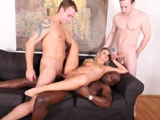 Milf Barra Brass invites over a group of friends f