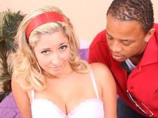 Cute Blonde Teen Chloe does Interracial Hardcore