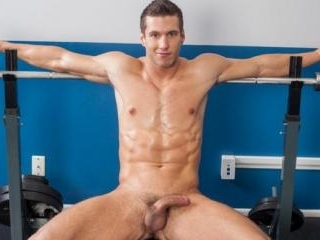 Alec Hudson goes straight to pumping his cock