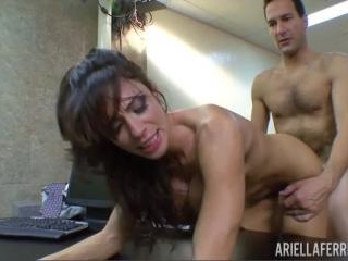 Boss Uses Ariella Ferrera While Another Couple Fuc