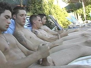 Poolside Circle Jerking - Billy, KC, Turk And Wint