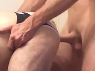 Gay dude takes a big cock bareback style