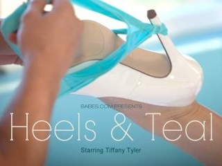 Tiffany Tyler in Heels & Teal
