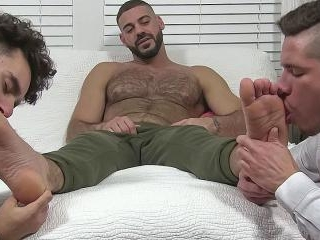 Ricky Foot Worshiped By 2 Guys - Ricky