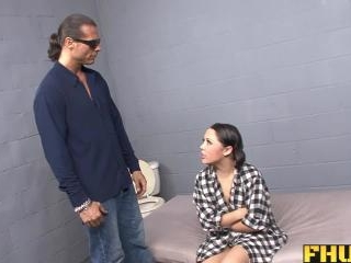 Latina whore lets the cop fuck her ass