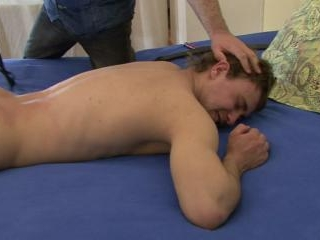 Bed spanking for young gay boy