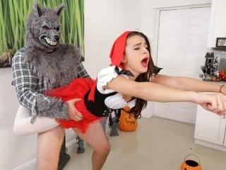 Brunette Spinner Fucks on Halloween