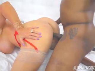 Big Boob Blonde Alura Jenson With Black Cock