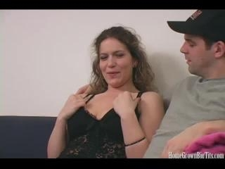 Brunette Chick And Guy Go At It