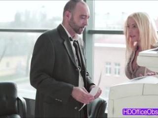 Kyra Hot - Horny blonde receives warm cum inside