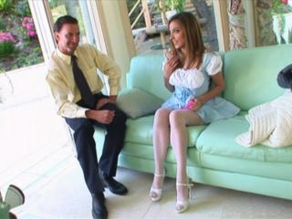 Jenna Haze in Jenna Haze is the naughty nanny who
