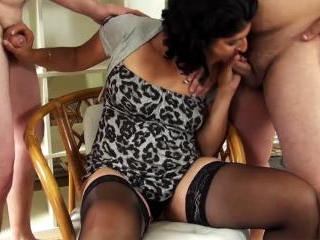 German gipsy slut gets fucked by two