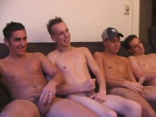 Five Boys Beating Off