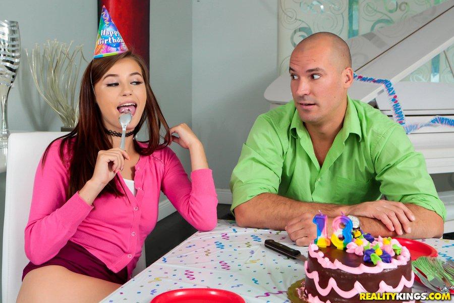 Teen birthday girl mischa brooks gets some hard dick