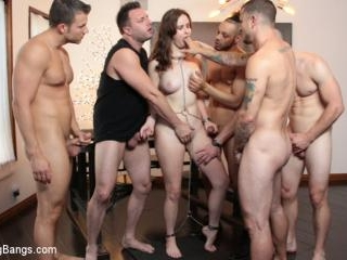 Jay Taylor gets DP\'d in First Gangbang Ever! - Kin