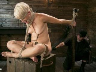 Blonde Buff MILF Helena Locke Made to Cum in Tight