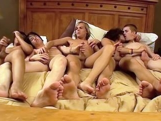 A 5 Boy Orgy Of Cock Hunger - Asher, Brenden, Dill