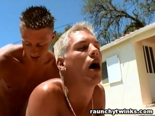 Hot Gay Anal Sex Poolside