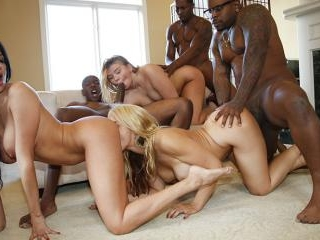 Blacks On Blondes - Anissa, Melissa, Sarah