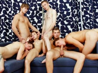 College Gays Having an Orgy