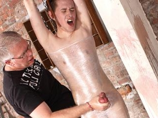 Shaved Twink Wrapped In Plastic - Harry Jordan And