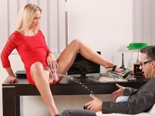 Peeonher - Piss drinking blonde takes a creampie