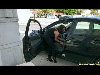 Lilith pulls up to the gas pump  but can\'t seem to