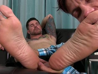 Clint Gets Foot Worshiped