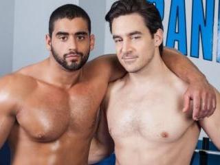 Straight Gym Hunks Chris Rockway and Angelo Antoni