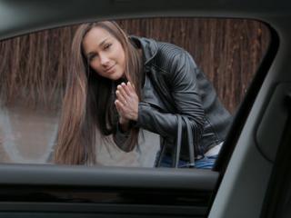 Brunette Gets in a Stranger\'s Car