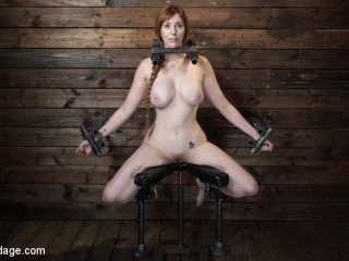 Lauren Phillips: Helpless Redhead in Brutal Bondag