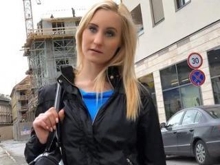 Blonde Fucked Through Pantyhose