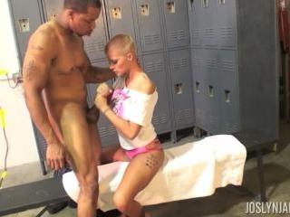 Joslyn James Locker Room Fun with Her Favorite Bla