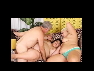 3 Plumpers Sharing Cock