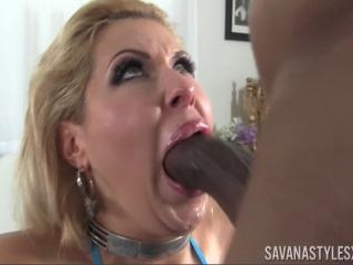 Savana Styles Deep-Throats Huge Black Cock